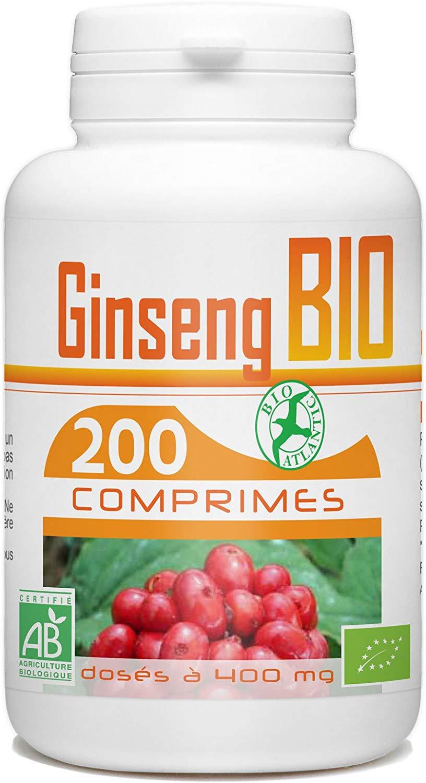 Bienfait Ginseng Bio - 400 mg - 200 comprimés de Bio Atlantic